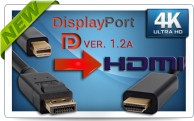 Фото Кабели DisplayPort / mini DisplayPort в HDMI, UltraHD 4K