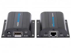 Фото LKV372A - Удлинитель линии HDMI (версия 1.4) по одному кабелю CAT6/6a/7 на длину свыше 60 м., HD-BitT, с передачей ИК сигналов управления, поддержка 3D
