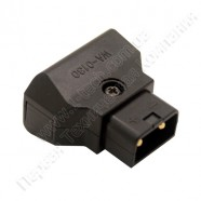 Фото AC-DTAP-M -  Разъём питания D-Tap, кабельный, 2 контакта, покрытие контактов - золото, разборной корпус - пластик, цвет - чёрный
