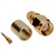 Фото J01150A0... Разъём SMA кабельный, штекер, усиленный, обжим, 50 Ом