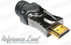"""Фото ACR-HDMI19-M.. Кабельный разъем HDMI, штекер, серия """"Reference Line"""", с металлическим разборным корпусом"""