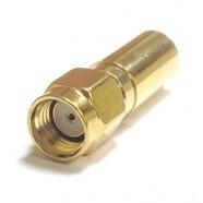Фото J01150R0051 - Разъём R-SMA (корпус-штекер, ц.контакт- гнездо) кабельный, обжим, 50 Ом