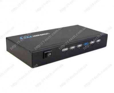 Фото1 LKV314 - Распределитель сигналов HDMI 1:4, (1 вход HDMI > 4 выхода HDMI) с поддержкой 3D