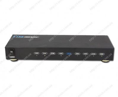 Фото1 LKV318 - Распределитель сигналов HDMI 1:8, (1 вход HDMI > 8 выходов HDMI)
