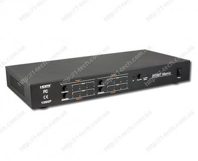 Фото1 LKV344 - Матричный видео коммутатор сигналов HDMI 4х4 с ИК пультом управления