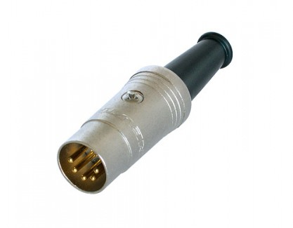 Фото1 AC-DIN5-AU - Разъем DIN 5-контактный кабельный, штекер, развертка 180 град.