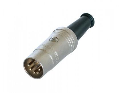 Фото1 AC-DIN5-AG - Разъем DIN 5-контактный кабельный, штекер, развертка 180 град.