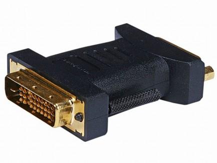Фото1 MNP-ADA-DVID2M1D-FM - Адаптер проходной DVI-D Dual Link гнездо > M1-D(P&D) штекер, удлинённые винты