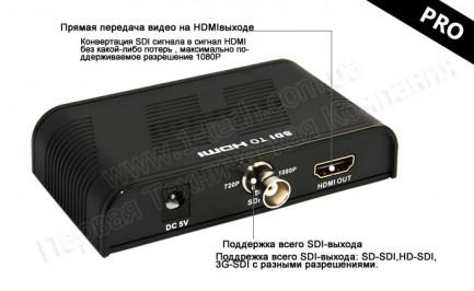 Фото2 LKV368 - Конвертер видео сигнала SDI (SD, HD, 3G) в сигналы HDMI