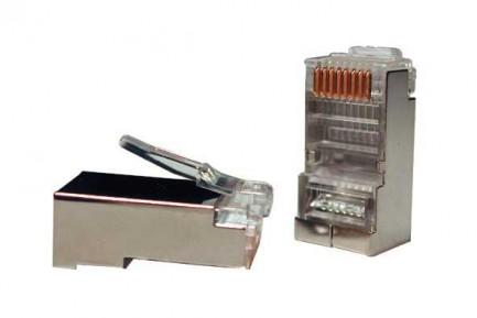 Фото2 RJ45-MP8(8C)-FS-C5 - Разъем RJ45 кабельный под витую пару 5 кат., экранированный, универсальный
