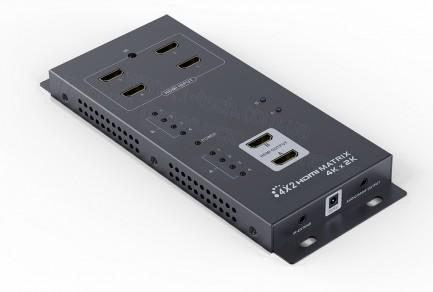 Фото1 LKV342pro - Матричный коммутатор цифровых сигналов HDMI (версия 1.4) 4k*2k, 4xHDMI видео источника >