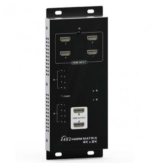 Фото2 LKV342pro - Матричный коммутатор цифровых сигналов HDMI (версия 1.4) 4k*2k, 4xHDMI видео источника >