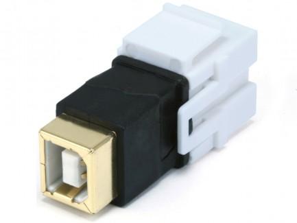 Фото6 MNKS-USB-.. Вставка-кейстон с проходным адаптером USB (гнездо-гнездо)  для мультимедийных настенных