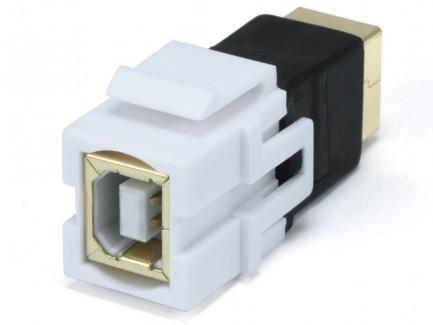 Фото5 MNKS-USB-.. Вставка-кейстон с проходным адаптером USB (гнездо-гнездо)  для мультимедийных настенных