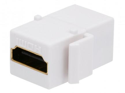 Фото1 MNKS-HDMI-.. Вставка-кейстон с проходным адаптером HDMI-FF (гнездо-гнездо)  для мультимедийных насте
