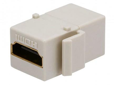 Фото3 MNKS-HDMI-.. Вставка-кейстон с проходным адаптером HDMI-FF (гнездо-гнездо)  для мультимедийных насте