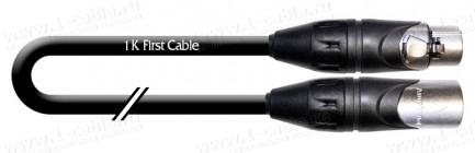 Фото1 1K-A11-..SW Кабель звук балансный, Basic, XLR3 гнездо > XLR3 штекер, черный