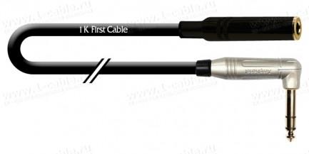 Фото1 1K-AIC33-1. Кабель звук балансный переходной, Basic, Jack 6.3 stereo гнездо > Jack 6.3 stereo штекер