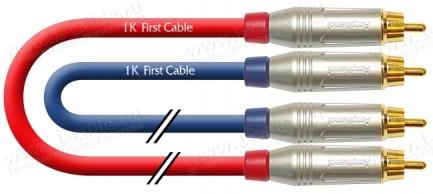 Фото1 1K-A2-1.. Кабель звук стерео, Basic, 2х RCA штекер > 2х RCA штекер
