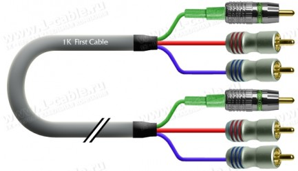 Фото1 1K-AV1-.. Кабель комбинированный Basic: видео + стерео звук, 3x RCA > 3x RCA