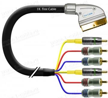 Фото1 1K-AV8-.. Кабель комбинированный, SCART > 6x RCA (Video CST вход-выход + Аудио стерео вход-выход)