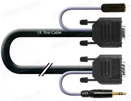 Фото1 1K-AV46-.. Кабель комбинированный (VGA+звук) для подключения аудио-видео устройств: D-SUB 15-пин ште