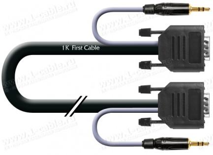 Фото1 1K-AV48-.. Кабель комбинированный (VGA+звук) для подключения аудио-видео устройств: D-SUB 15-пин ште