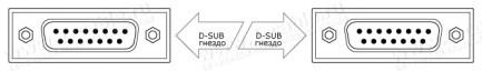 Фото2 1K-BIT05-15FF-.. Терминальный кабель-удлинитель для передачи данных, D-Sub 15-пин, гнездо-гнездо (дл