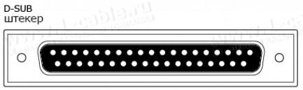 Фото2 1K-BIT21-37PTM-.. Кабель для передачи данных, изолированные пары, D-Sub 37-пин штекер > Pigtail (без