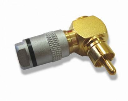 Фото1 AC-61A-8.. Разъём RCA угловой штекер, кабельный, цанговый, на кабель до 8 мм