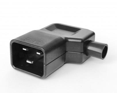 Фото1 ACP-320C20MCJ - Разъем С20, штекер на кабель, угловой, 250B, 16A, 3 контакта, IEC 60320