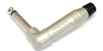 Фото1 ACPM-R.. Jack Phono 6.3мм моно штекер на кабель, угловой, М-серия