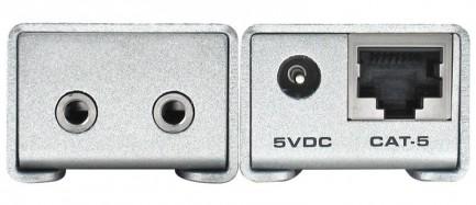 Фото2 EXT-AUD-1000 - Удлинитель звуковых аналоговых линий по витой паре (5e Cat) на 300 м, аналоговый стер