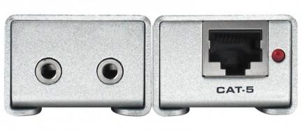 Фото3 EXT-AUD-1000 - Удлинитель звуковых аналоговых линий по витой паре (5e Cat) на 300 м, аналоговый стер