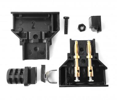 Фото4 DC-DTAP-M4 Разъём питания D-Tap, штекер на кабель, 2 контакта + хвостовик