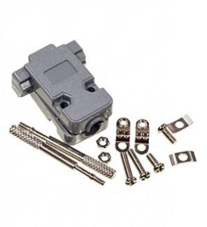 Фото1 DP-09.. Корпус разъема D-SUB для 9-контактных (2-х рядных) или 15-контактных (3-х рядных) колодок, у