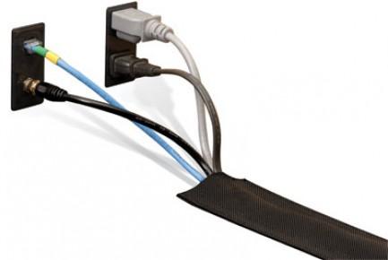 Фото2 DRN..00BK Защитный эластичный кабельный трап для коврового покрытия на липучке