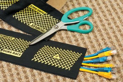 Фото3 DRN..00BK Защитный эластичный кабельный трап для коврового покрытия на липучке
