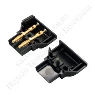 Фото7 AC-DTAP-M -  Разъём питания D-Tap, кабельный, 2 контакта, покрытие контактов - золото, разборной кор