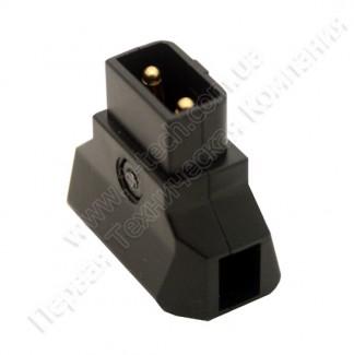 Фото8 AC-DTAP-M -  Разъём питания D-Tap, кабельный, 2 контакта, покрытие контактов - золото, разборной кор