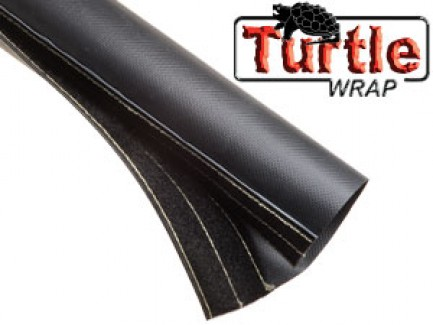 Фото1 DWT...BK Застёгивающаяся Защитная Оплётка на замке-липучке (негорючий неопрен) Turtle Wrap
