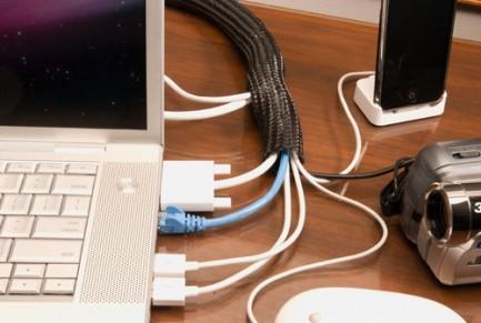 Фото4 F6N1.25.. Самозастегивающаяся оборачиваемая эластичная кабельная оплетка- 3.18 см