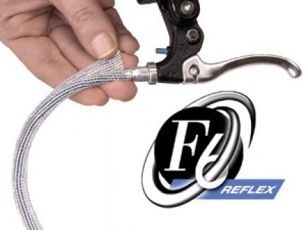 """Фото1 F6R0.19CL Самозакрывающаяся оборачиваемая светоотражающая кабельная оплетка """"F6 Reflex"""", диаметр- 4."""
