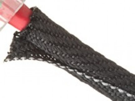 Фото3 F6V...TB Самозакрывающаяся оборачиваемая негорючая эластичная тканевая кабельная оплетка F6 Woven FR