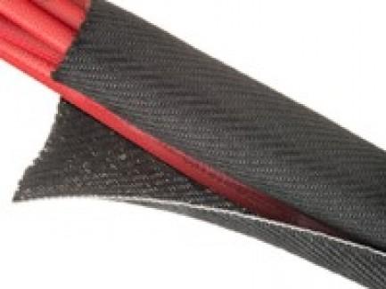 Фото7 F6V...TB Самозакрывающаяся оборачиваемая негорючая эластичная тканевая кабельная оплетка F6 Woven FR