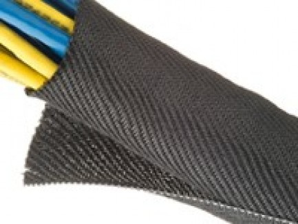 Фото9 F6V...TB Самозакрывающаяся оборачиваемая негорючая эластичная тканевая кабельная оплетка F6 Woven FR