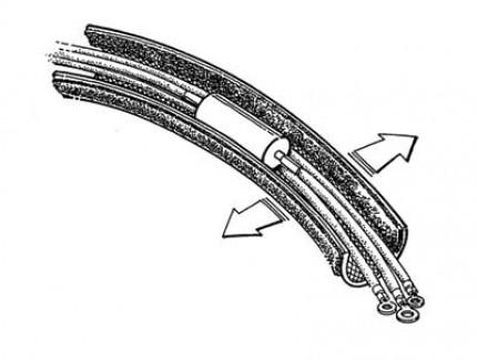Фото4 FWN0.75.. Застегивающаяся эластичная кабельная оплетка на замке-липучке- 1.9 см