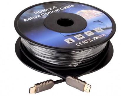 Фото1 HDMIFO4K2K-.. Цифровой оптический кабель HDMI, 4K UltraHD с встроенным преобразователем сигналов, HD