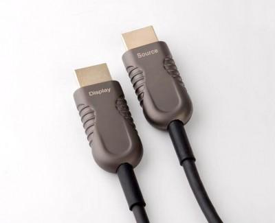 Фото2 HDMIFO4K2K-.. Цифровой оптический кабель HDMI, 4K UltraHD с встроенным преобразователем сигналов, HD