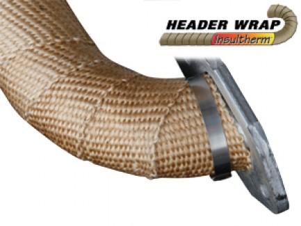 """Фото1 HFN.. - HEADER WRAP Высокотемпературная лента """"Ultraflexx"""" (стекловолокно) до 650 гр."""